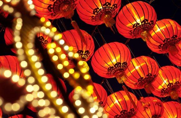 Китайские фонарики.
