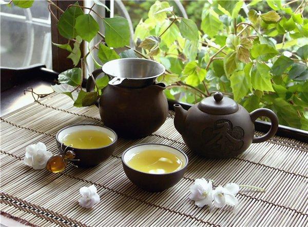 Готовый вьетнамский зеленый чай.