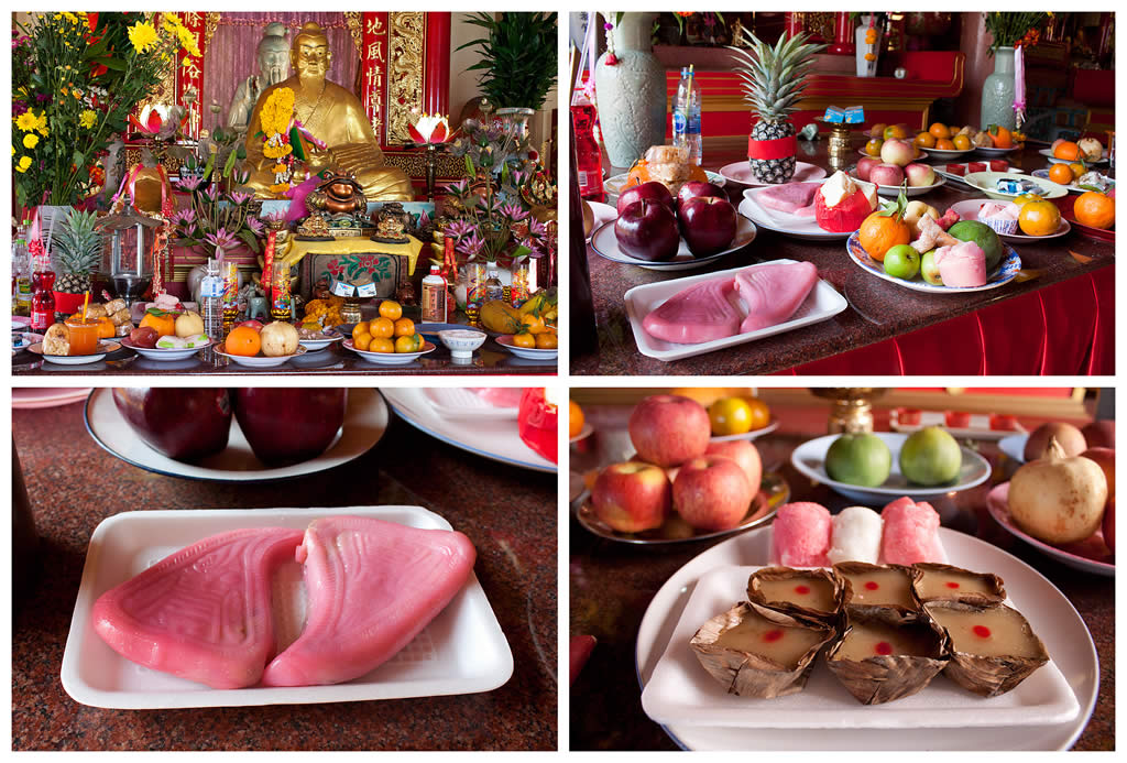 Новогодняя еда в Таиланде.