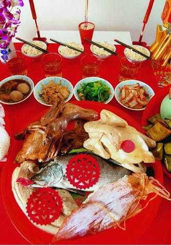Праздничный стол на Китайский Новый год.