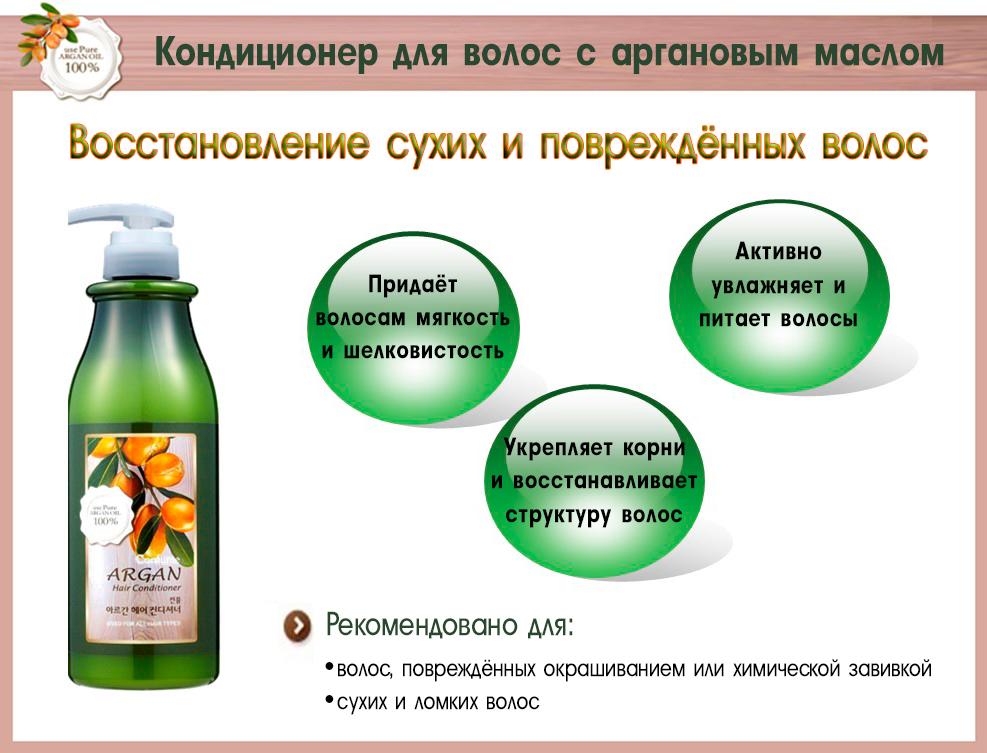 Кондиционер для волос с аргановым маслом Confume Argan.