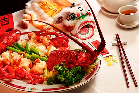 Еда в Китайский Новый год.