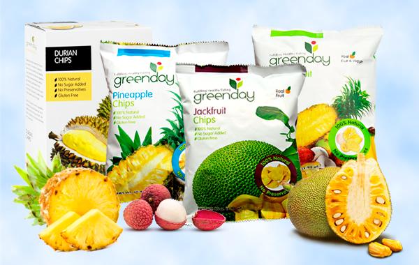 распродажа фруктовых чипсов Greenday.