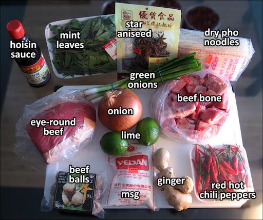 Ингредиенты для вьетнамского супчика Фо