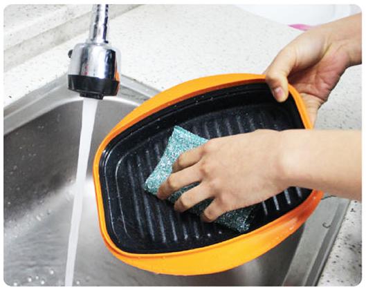 Лёгкое мытьё прямоугольной сковороды Range Mate.
