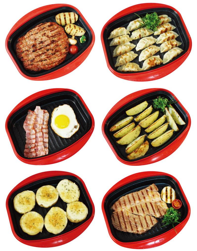 Еда, приготовленная в сковороде-гриль Range Mate.