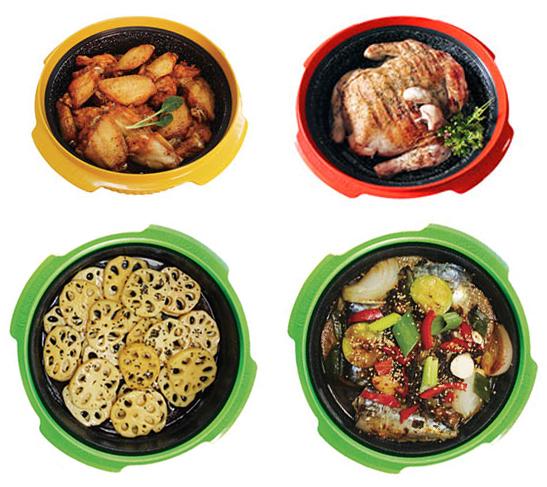 Продукты, приготовленные в кастрюле для микроволновой печи Range Mate.