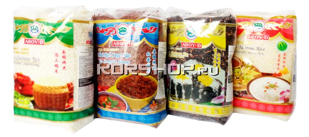 4 вида тайского риса от Aroy-D.