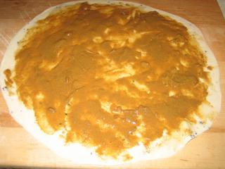 Тесто с кунжутной пастой
