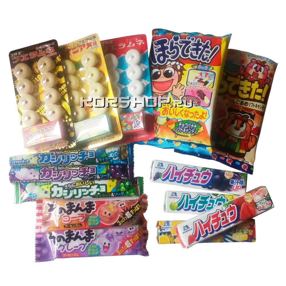 Новое поступление японской жевательной резинки, жевательных конфет и леденцов.