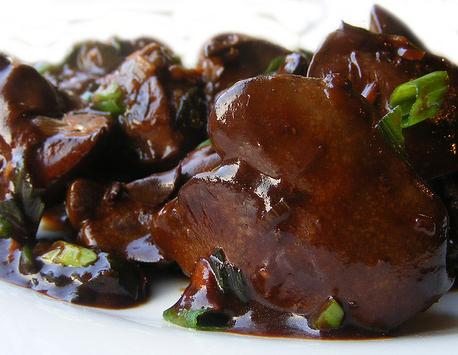 Куриная печень по-китайски с соусом Вустер