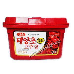Корейская острая перцовая паста Кочудян 2 кг - в экономичных упаковках