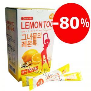 Лимонная детокс-диета Lemon Toc Nokchawon, Корея 119 г (14 шт.*8,5 г) со скидкой 80%