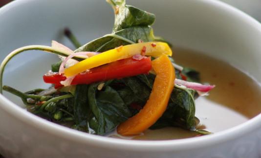 салат из листьев перца по корейски