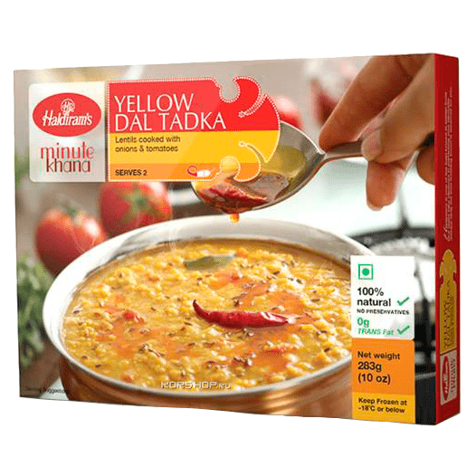 Суп из желтой чечевицы Дал Тадка/Yellow Dal Tadka Haldiram's, Индия, 283 г,