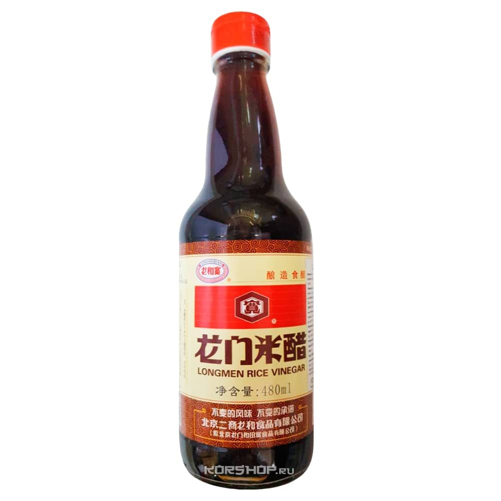 Темный рисовый уксус Лун Мэнь, Китай, 480 мл — купить в Москве по цене 234 руб.  с доставкой — интернет-магазин Korshop.ru