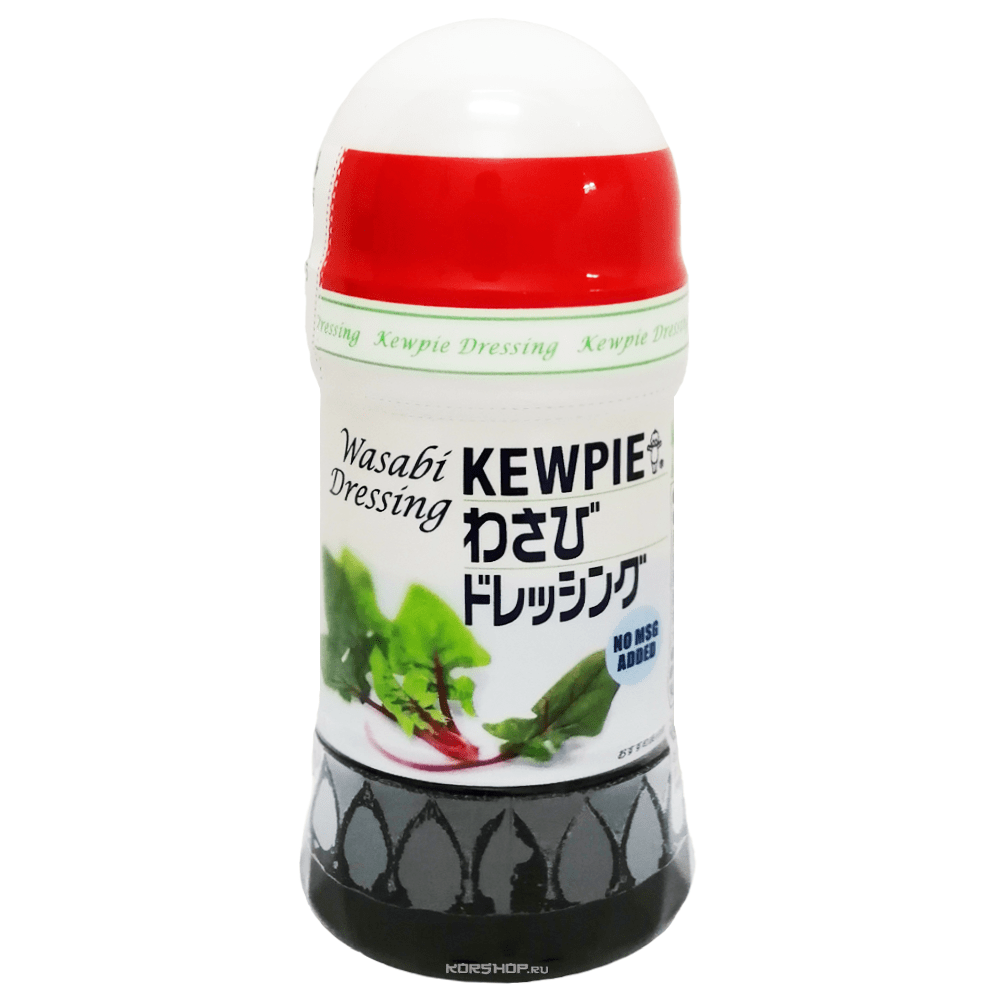 KEWPIE Соус (дрессинг) с васаби и японской ламинарией 380 мл.1*6шт. Арт-56451