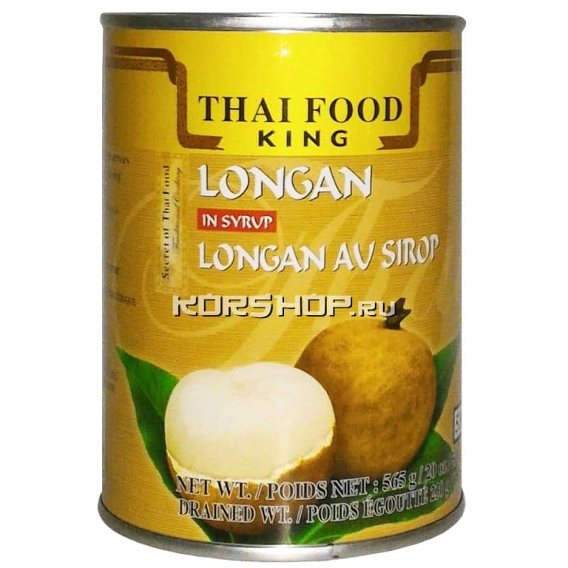 Лонган в сиропе Thai Food King, Таиланд, 565 г,