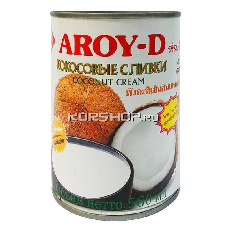 Кокосовые сливки Aroy-D, Таиланд, 0,56 л