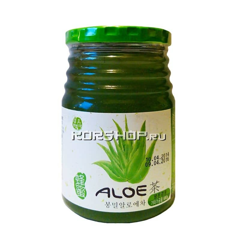 Джем с мёдом и алоэ вера Honey Aloe Tea, Корея 580 г