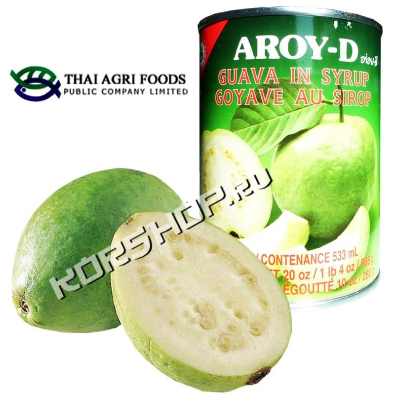 Гуава в сиропе AROY-D Guava in Syrup 565г,
