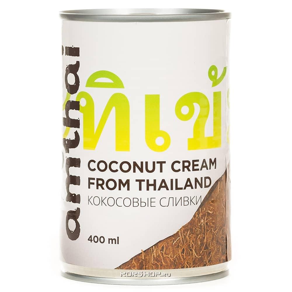 Кокосовые сливки AmThai (20-22%), Таиланд, 400 мл