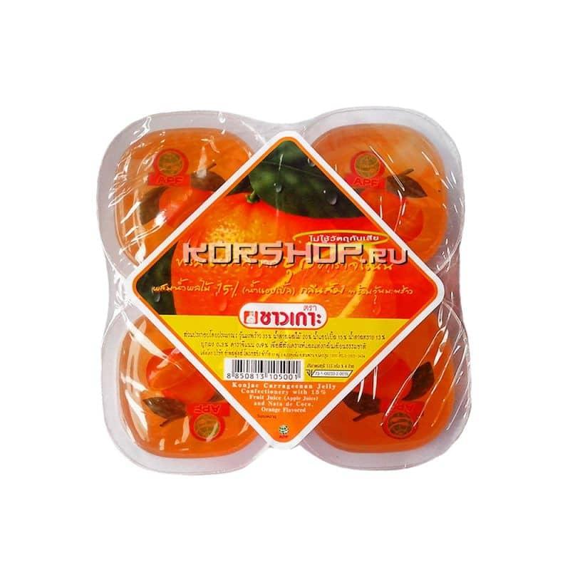 """Конжаковое желе """"Апельсин"""" Таиланд 4 шт. по 115 г — купить в Москве по цене 205 руб.  с доставкой — интернет-магазин Korshop.ru"""