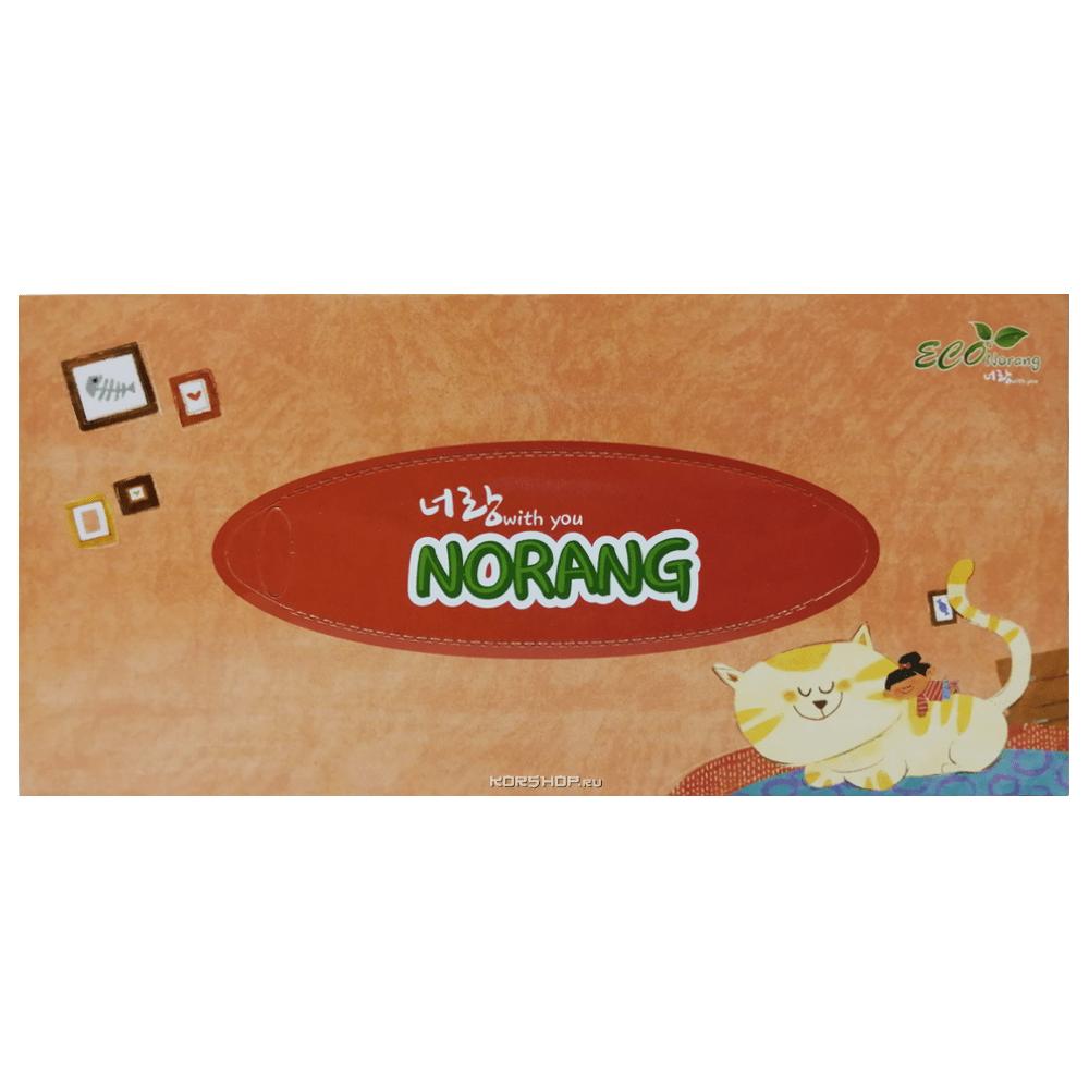 Двухслойные салфетки для лица (кот) Norang (180 шт.), Корея Акция