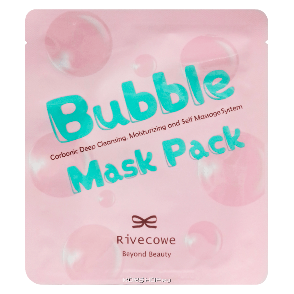 Очищающая маска для лица Bubble Mask Pack Rivecowe Beyond Beauty, Корея, 13 г