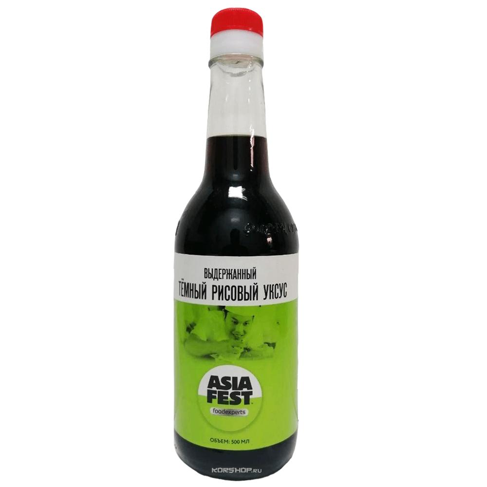 Выдержанный темный рисовый уксус Asia Fest, Китай, 500 мл — купить в Москве по цене 137 руб.  с доставкой — интернет-магазин Korshop.ru