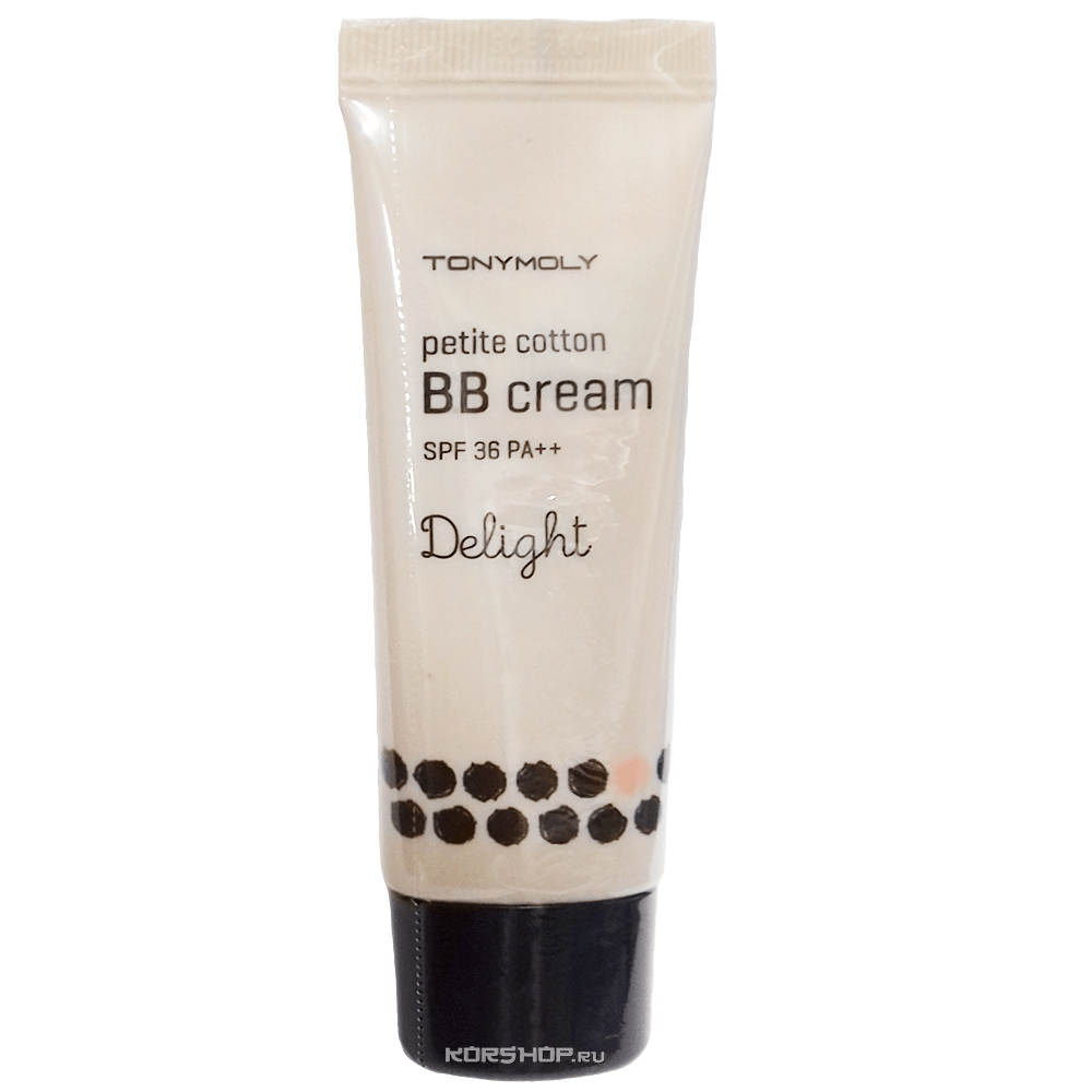 ББ-крем Delight Petite Cotton BB Cream SPF36 PA++ Tony Moly (honey beige), Корея, 30 г