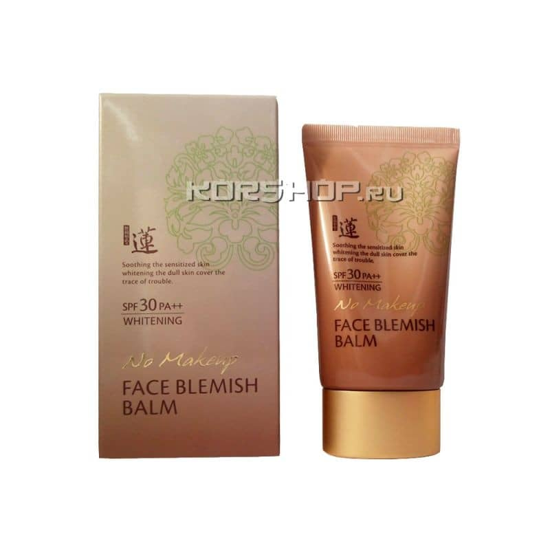 Тональный ББ крем (BB Cream) Lotus No-Make Up SPF30 PA+++, Корея 50мл